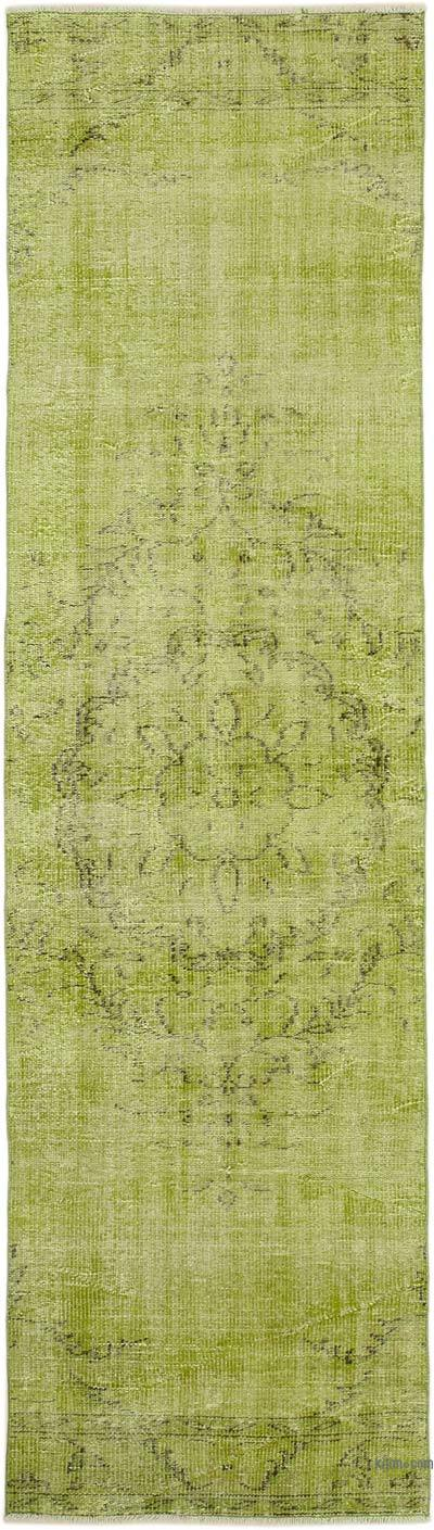 """Over-dyed Turkish Vintage Runner Rug - 2' 11"""" x 10' 6"""" (35 in. x 126 in.)"""