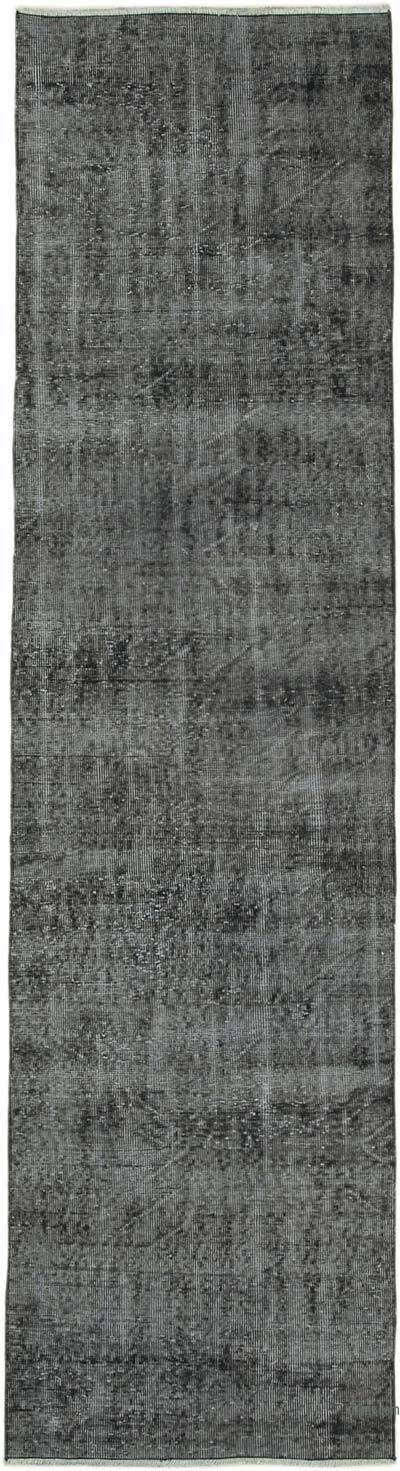 """Over-dyed Turkish Vintage Runner Rug - 2' 8"""" x 10'  (32 in. x 120 in.)"""