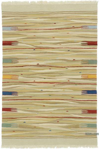 "New Handwoven Turkish Kilim Rug - 4' 1"" x 6'  (49 in. x 72 in.)"