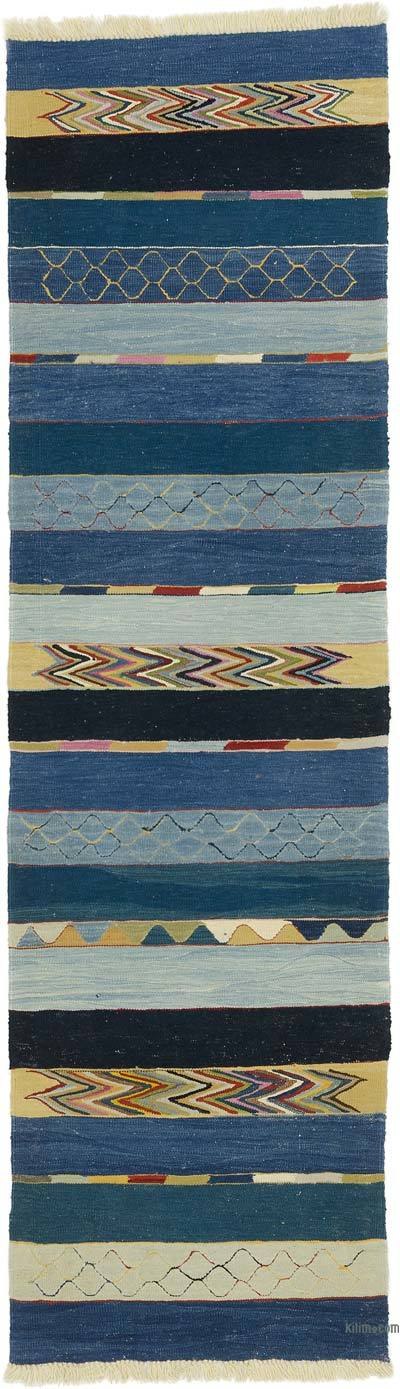 "New Handwoven Turkish Kilim Runner - 2' 9"" x 9' 8"" (33 in. x 116 in.)"