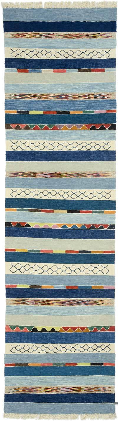 "New Handwoven Turkish Kilim Runner - 2' 10"" x 10' 2"" (34 in. x 122 in.)"