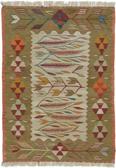 "New Handwoven Turkish Kilim Rug - 2' 11"" x 4'  (35 in. x 48 in.)"