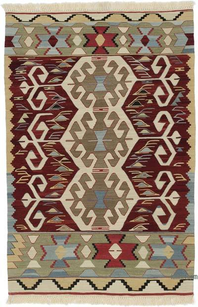 "New Handwoven Turkish Kilim Rug - 3' 1"" x 4' 8"" (37 in. x 56 in.)"