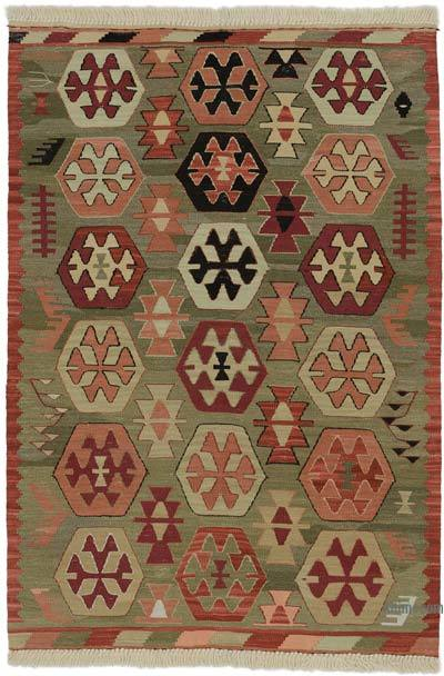 "New Handwoven Turkish Kilim Rug - 3'  x 4' 4"" (36 in. x 52 in.)"