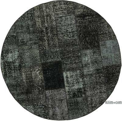 Yuvarlak Boyalı Patchwork Halı - 173 cm x 173 cm