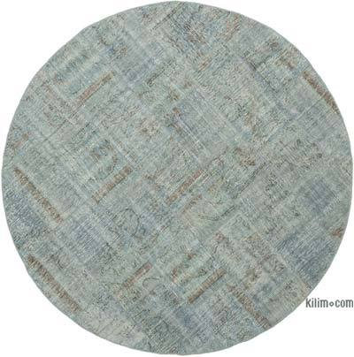 "Patchwork Hand-Knotted Turkish Rug - 6' 6"" x 6' 6"" (78 in. x 78 in.)"