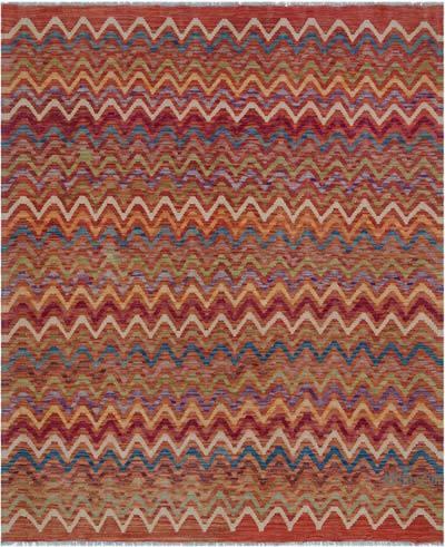 """Multicolor New Afghan Kilim Rug - 5' 5"""" x 6' 6"""" (65 in. x 78 in.)"""