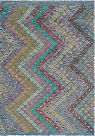 Multicolor Nueva Alfombra Kilim afgana - 168 cm x 239 cm
