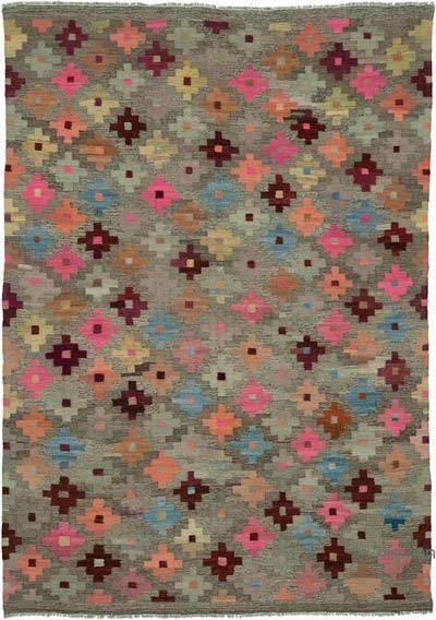 Çok Renkli Yeni Afgan Kilimi - 172 cm x 243 cm