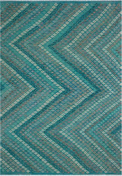 """Multicolor New Afghan Kilim Rug - 6' 10"""" x 9' 9"""" (82 in. x 117 in.)"""