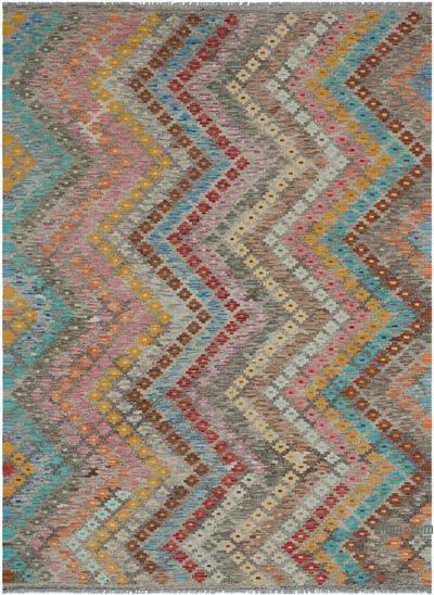 """Multicolor New Afghan Kilim Rug - 5' 11"""" x 7' 11"""" (71 in. x 95 in.)"""