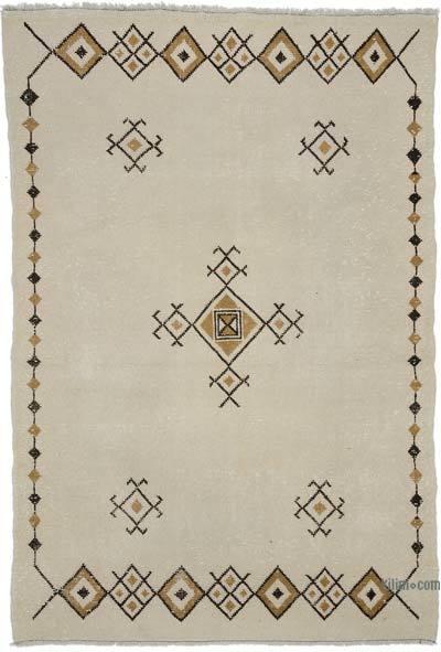 Beige Turkish Vintage Rug