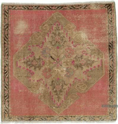 "Turkish Vintage Rug - 2' 9"" x 2' 9"" (33 in. x 33 in.)"