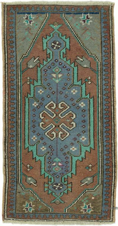 "Turkish Vintage Rug - 1' 8"" x 3' 2"" (20 in. x 38 in.)"