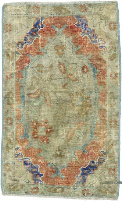 "Turkish Vintage Rug - 1' 9"" x 2' 10"" (21 in. x 34 in.)"