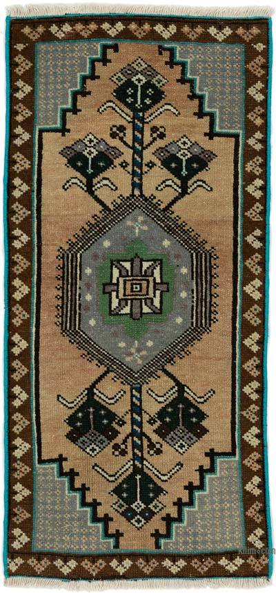 "Turkish Vintage Rug - 1' 5"" x 3'  (17 in. x 36 in.)"