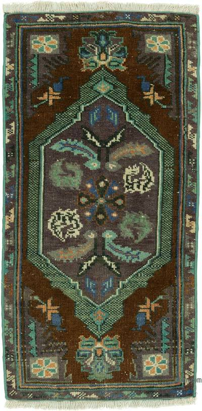 "Turkish Vintage Rug - 1' 7"" x 3' 2"" (19 in. x 38 in.)"