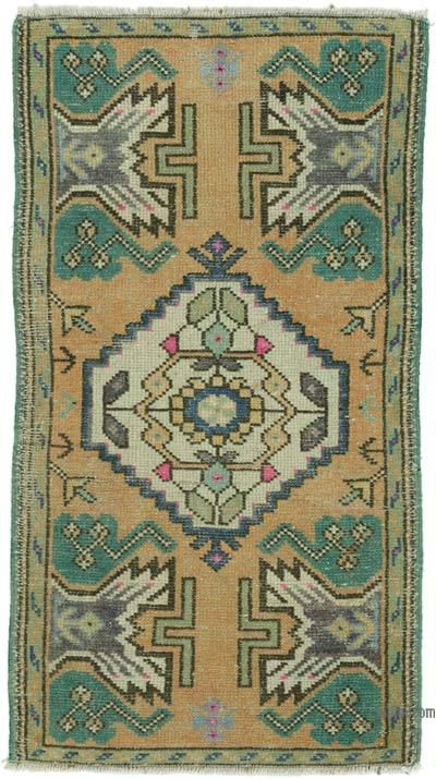 "Turkish Vintage Rug - 1' 7"" x 2' 11"" (19 in. x 35 in.)"