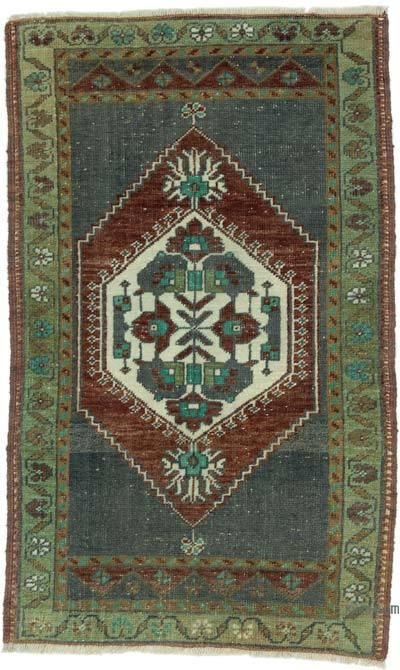 "Turkish Vintage Rug - 1' 10"" x 3'  (22 in. x 36 in.)"
