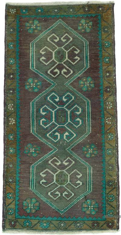 "Turkish Vintage Rug - 1' 7"" x 3' 1"" (19 in. x 37 in.)"