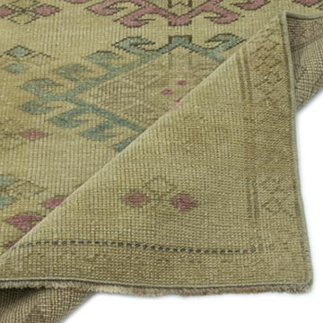 """Vintage Turkish Hand-Knotted Rug - 2' 3"""" x 3' 1"""" (27 in. x 37 in.) - K0052832"""