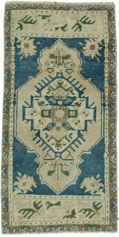 "Turkish Vintage Rug - 1' 7"" x 3'  (19 in. x 36 in.)"