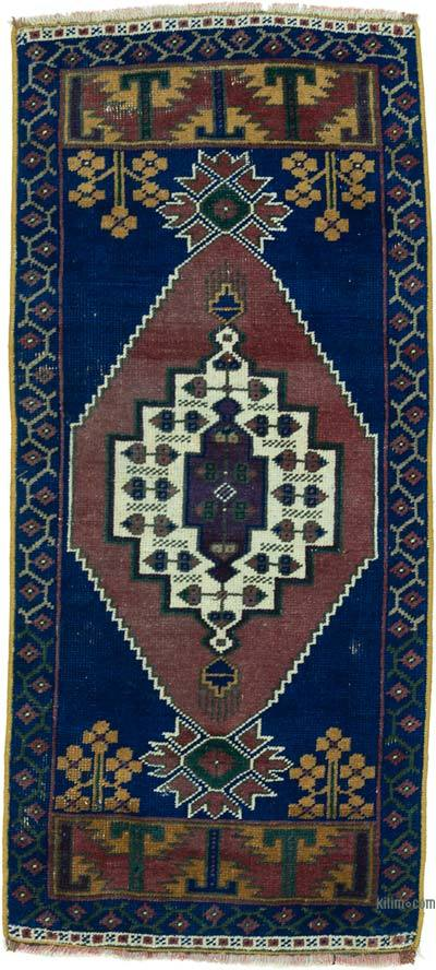 "Turkish Vintage Rug - 1' 8"" x 3' 8"" (20 in. x 44 in.)"
