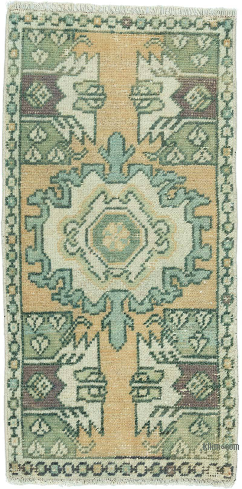 """Vintage Turkish Hand-Knotted Rug - 1' 6"""" x 2' 11"""" (18 in. x 35 in.) - K0052843"""