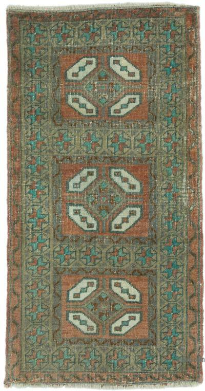 "Turkish Vintage Rug - 1' 6"" x 2' 10"" (18 in. x 34 in.)"