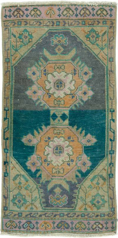 "Turkish Vintage Rug - 1' 8"" x 3' 5"" (20 in. x 41 in.)"
