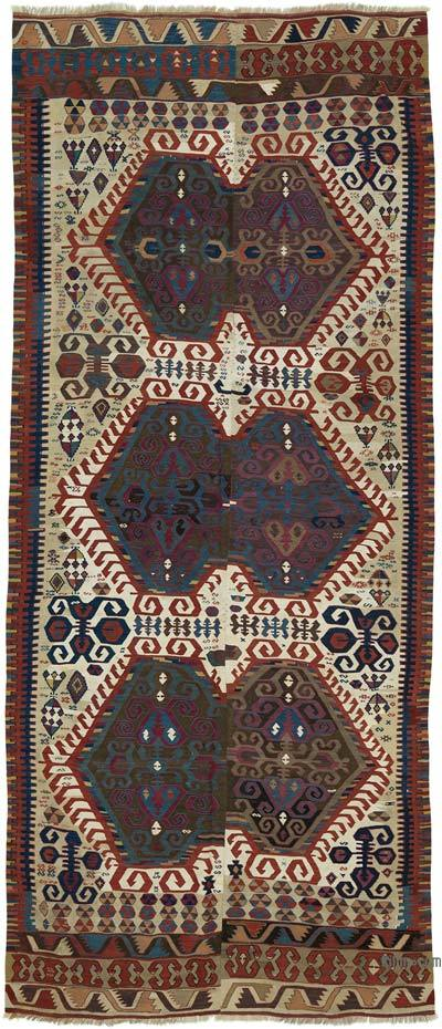 "Antique Malatya Kilim Rug - 4' 9"" x 10' 11"" (57 in. x 131 in.)"