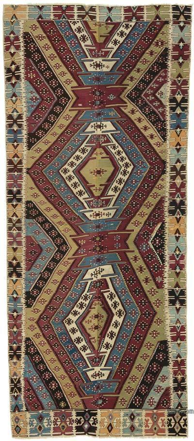 """Vintage Konya Kilim Rug - 5' 9"""" x 13'  (69 in. x 156 in.)"""
