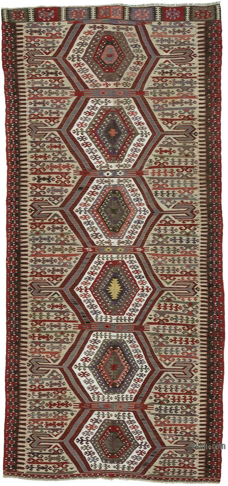 """Antique Aydin Kilim Rug - 5' 7"""" x 12'  (67 in. x 144 in.) - K0053446"""