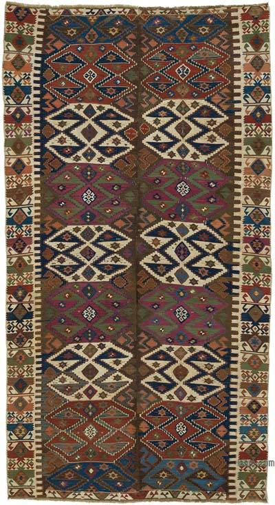 "Antique Malatya Kilim Rug - 5' 6"" x 10' 2"" (66 in. x 122 in.)"