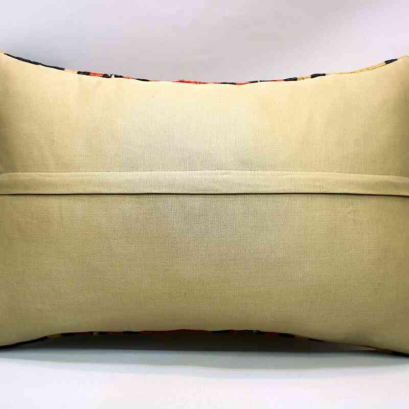 Kilim Yastık Kılıfı - 60 cm x 40 cm - K0053458