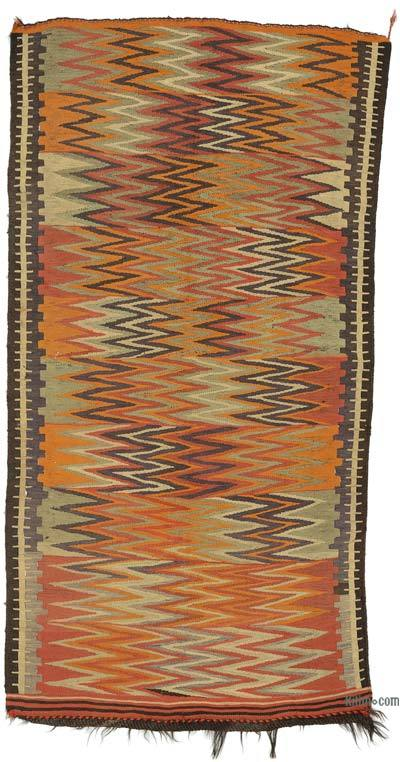 "Vintage Anatolian Kilim Rug - 4' 5"" x 8' 3"" (53 in. x 99 in.)"