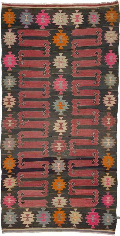 """Vintage Balikesir Kilim Rug - 5' 2"""" x 9' 11"""" (62 in. x 119 in.)"""