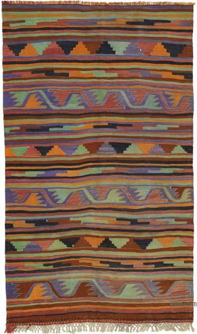 """Vintage Manisa Kilim Rug - 5' 5"""" x 9' 2"""" (65 in. x 110 in.)"""