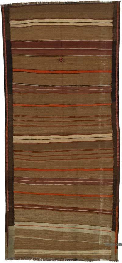 "Vintage Anatolian Kilim Rug - 5'  x 10' 10"" (60 in. x 130 in.)"