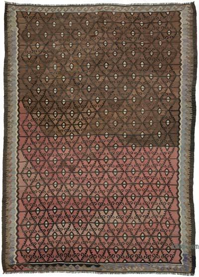 "Vintage Bayburt Kilim Rug - 7' 3"" x 10' 1"" (87 in. x 121 in.)"