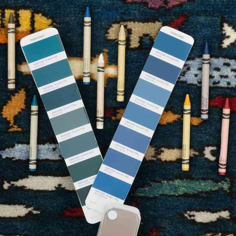 Mavi Yeni Kök Boya Halı - 92 cm x 143 cm - K0053765