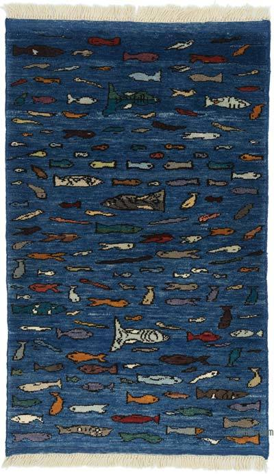 "New Turkish Pile Rug - 2' 11"" x 4' 10"" (35 in. x 58 in.)"