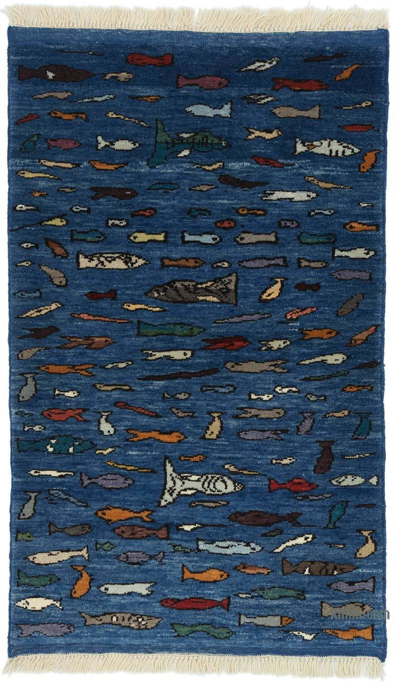 Mavi Yeni Kök Boya Halı - 89 cm x 147 cm - K0053766