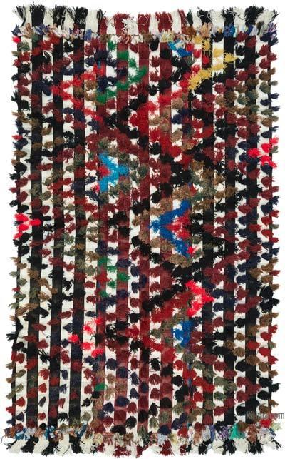 "Vintage Anatolian Flatweave Rug - 4' 11"" x 7' 11"" (59 in. x 95 in.)"