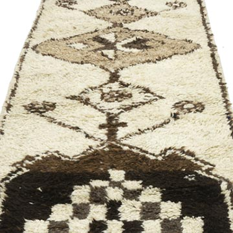 "Vintage Turkish Runner Rug - 3'  x 10' 9"" (36 in. x 129 in.) - K0053790"