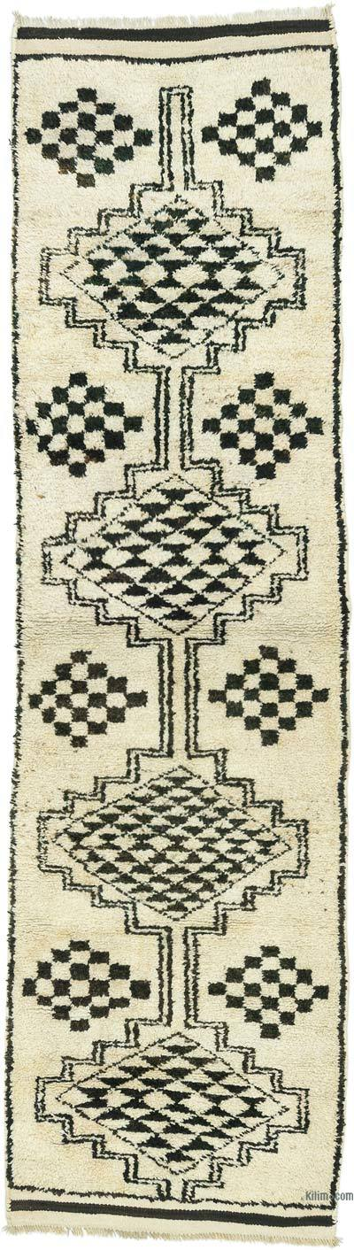 "Vintage Turkish Runner Rug - 3'  x 11' 1"" (36 in. x 133 in.)"