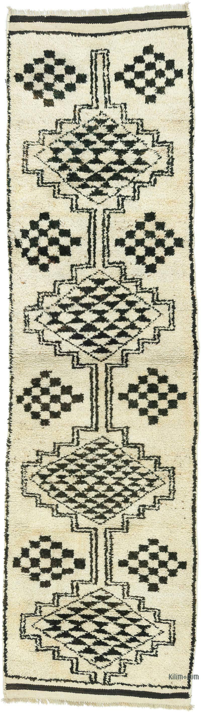 "Vintage Turkish Runner Rug - 3'  x 11' 1"" (36 in. x 133 in.) - K0053791"