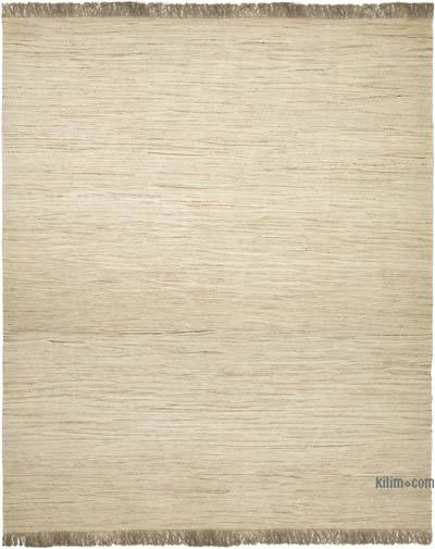 "Beige New Handwoven Turkish Kilim Rug - 14' 5"" x 16' 11"" (173 in. x 203 in.)"