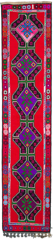 "Vintage Turkish Runner Rug - 2' 10"" x 12' 10"" (34 in. x 154 in.) - K0053826"