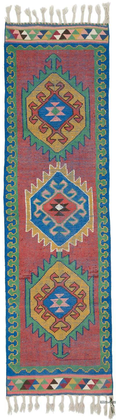 "Vintage Turkish Runner Rug - 3' 2"" x 10' 11"" (38 in. x 131 in.)"